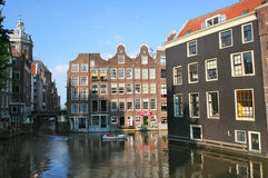 amsterdam center historiskt Fotografering för Bildbyråer