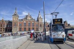 Amsterdam Centraal drevstation Arkivfoto