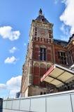 Amsterdam Centraal i Nederländerna Arkivbild