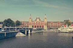 Amsterdam Centraal. Main building, Netherlands Stock Photography