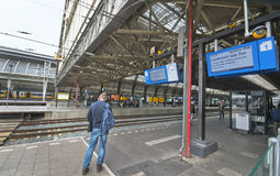 Amsterdam Centraal. At the Platform Stock Photo