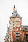 Amsterdam Centraal railway station building. Image of Amsterdam Centraal railway station building Royalty Free Stock Photo