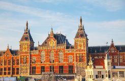 Amsterdam Centraal railway station Stock Images