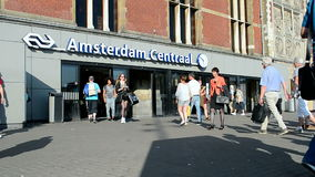 Amsterdam Centraal station in Amsterdam, Netherlands, stock video footage