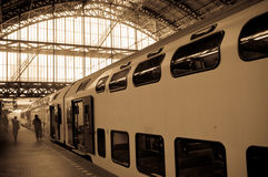 Amsterdam Centraal Train station. In Netherlands Royalty Free Stock Image