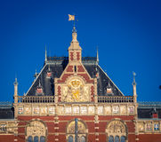 Amsterdam Centraal Train Station. In Holland of the Netherlands Stock Photography