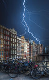 Amsterdam central historical part of the city Royalty Free Stock Photo