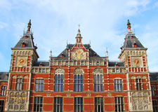 Amsterdam central railway station Royalty Free Stock Image