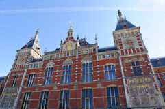 Amsterdam Central Railway station, Netherlands Royalty Free Stock Photo