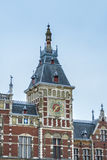 Amsterdam central railway station in Netherlands. Royalty Free Stock Photos