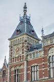 Amsterdam central railway station in Netherlands. Royalty Free Stock Photography