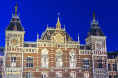 Amsterdam central railway station in Netherlands. Royalty Free Stock Image