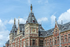 Amsterdam central railway station in Netherlands. Stock Photography