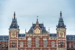 Amsterdam central railway station in Netherlands. Stock Images