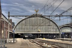 Amsterdam Central Station Royalty Free Stock Image