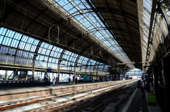 Amsterdam central station Royalty Free Stock Photo