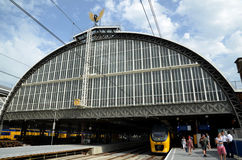 Amsterdam Central Station and platform Royalty Free Stock Image
