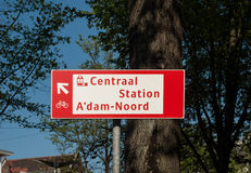 Amsterdam Central Station sign Stock Photo