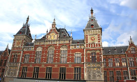 The Amsterdam Central Train Station (Amsterdam CS), Holland Stock Photography