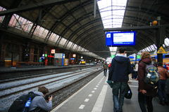 Amsterdam central train station Stock Photos