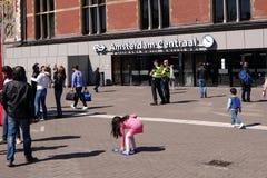 Amsterdam centrala Obraz Stock