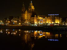 Amsterdam centrali stacja Fotografia Royalty Free