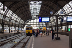 Amsterdam centralstation Royaltyfria Bilder