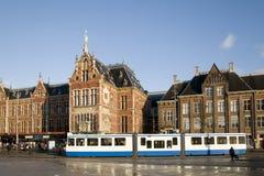 amsterdam centralstation Fotografering för Bildbyråer