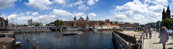 Amsterdam centralstation Royaltyfria Foton