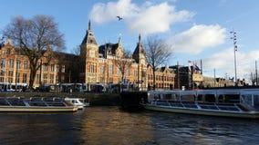 Amsterdam centralstation Arkivbild