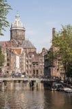 Amsterdam centrum Royaltyfri Fotografi