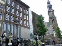Amsterdam cerca de la casa de Ana Frank Imagen de archivo libre de regalías