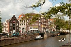 Amsterdam Channel Stock Photo