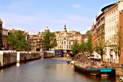 Amsterdam Channel and Architecture Royalty Free Stock Photo