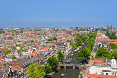 Amsterdam channel in a summer day Royalty Free Stock Photo