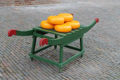 Amsterdam Cheese. The typical Dutch cheese, a tourist attraction in the hearth of Amsterdam, the Holland's capital stock image