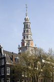 Amsterdam Church tower Royalty Free Stock Photography