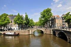 Amsterdam, Città-Chanel Fotografie Stock