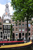 Amsterdam, Città-Chanel e casa galleggiante Immagine Stock