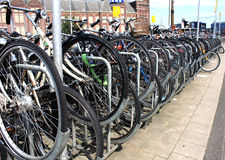Amsterdam city bicycles parking, Holland Stock Photo