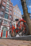 Amsterdam city with bike in Holland Stock Images