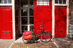 Amsterdam city with bike in Holland Royalty Free Stock Photo