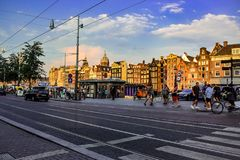Amsterdam city royalty free stock photo