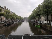 Amsterdam city canal. Stock Photo