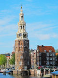 Amsterdam city center. With the Montelbaans tower, Netherlands. HDR photo Stock Images