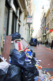 Amsterdam city full of garbage Stock Photography