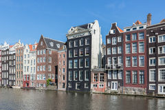 Amsterdam city with historic houses along Canals Royalty Free Stock Photo