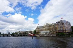 Holland, Amsterdam, the city with its water channels. Amsterdam, the city with its water channels stock photography