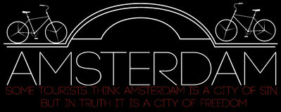 Amsterdam City, Modern T-shirt Typography Graphics, Vector Illus Stock Photography
