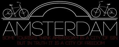 Amsterdam City, Modern T-shirt Typography Graphics, Vector Illus Stock Photography